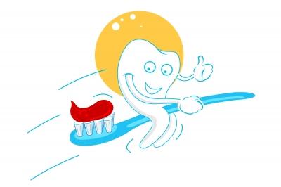 Toothpaste on a toothbrush. Image source: digitalart, Freedigitalphotos.net