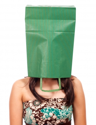 Woman with paper bag over her head. Image source: Stuart Miles, Freedigitalphotos.net