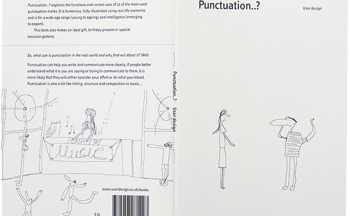"""Front cover of the book """"Punctuation..?"""" Image source: User design website"""