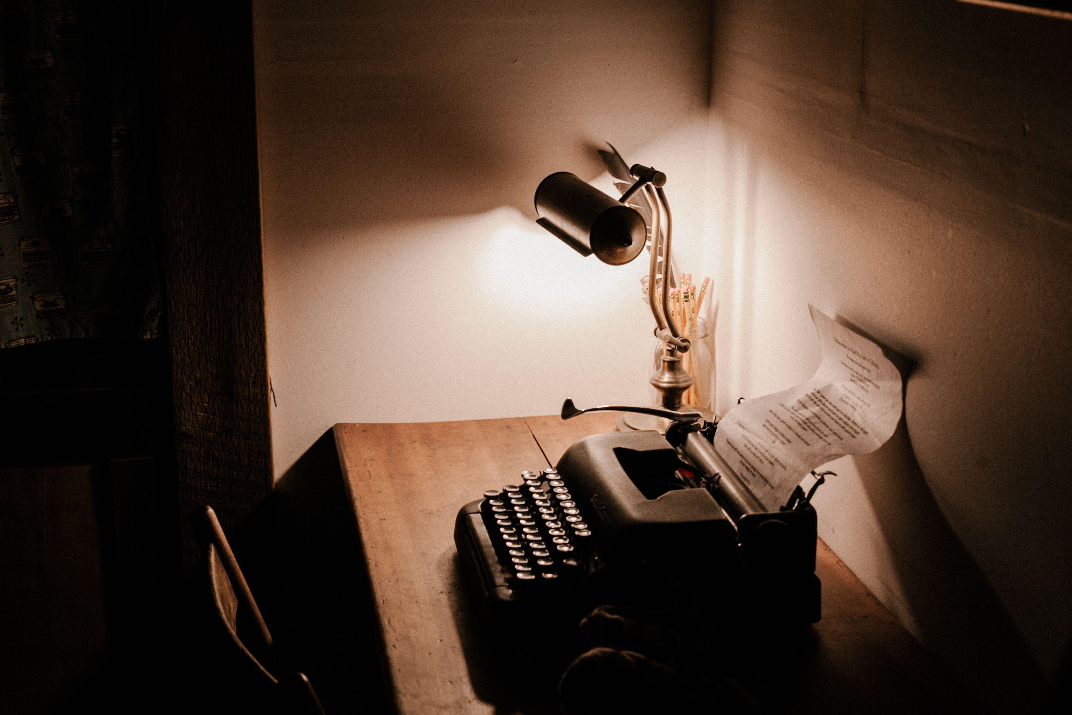 Altmodische Schreibmaschine